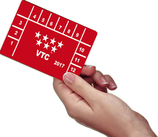 Tarjeta de transporte taxi VTC